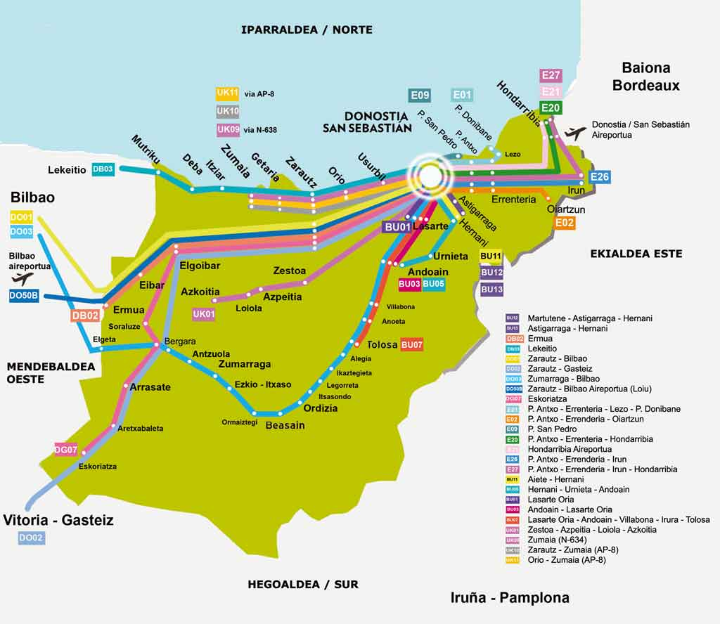 Loyola Spain Map.How To Get Here San Sebastian Tourism