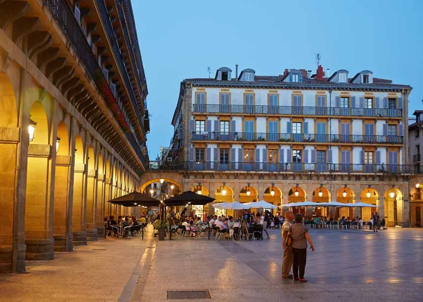 Plaza de la Constitución at the San Sebastian Old Town