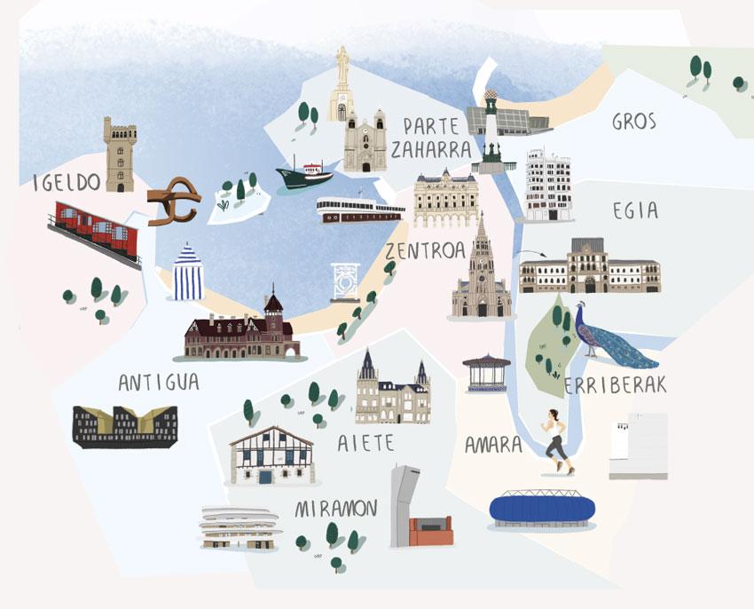 San Sebastian Map Of Spain.San Sebastian Neighbourhoods Discover The City S Hidden Secrets