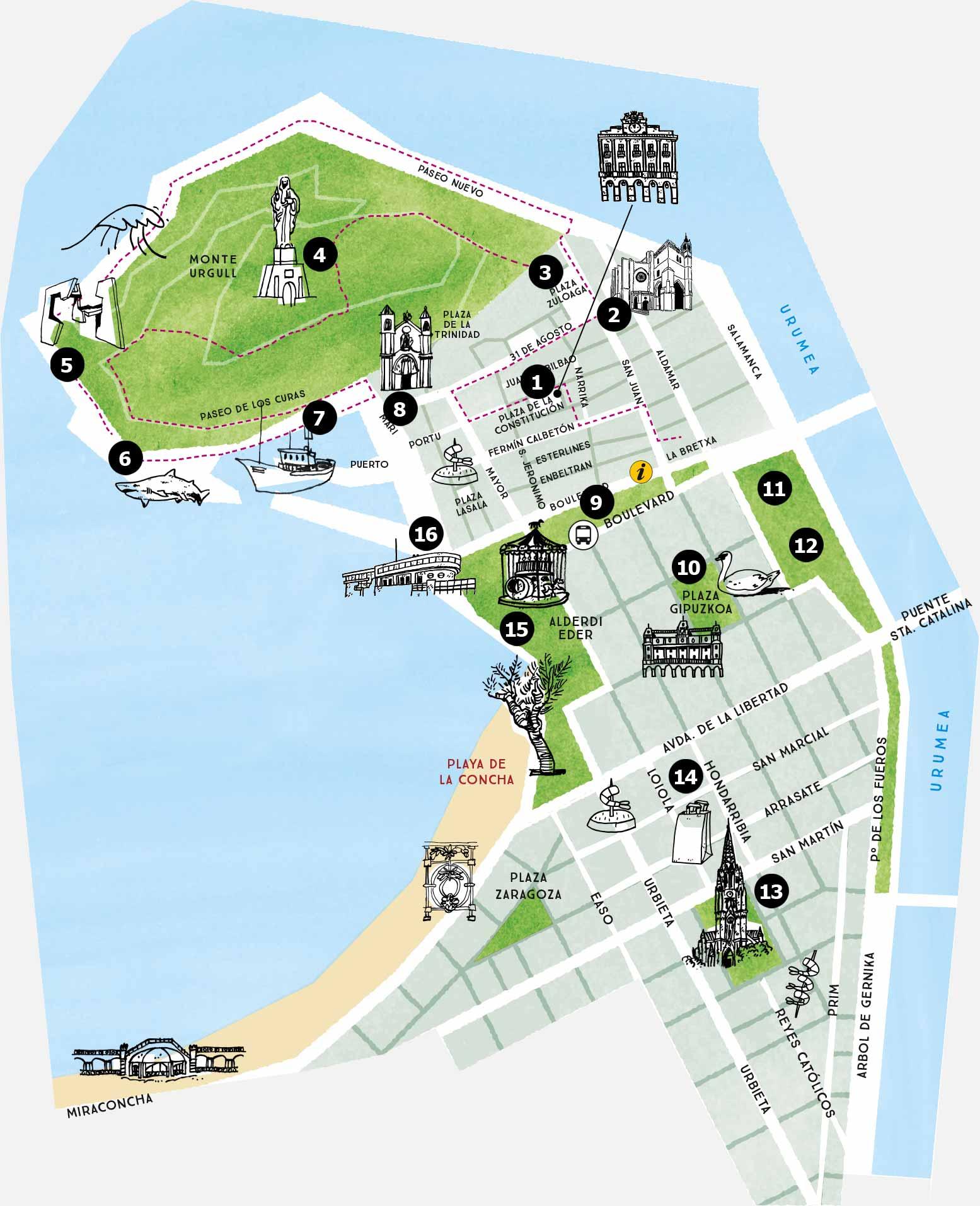 Centro De San Sebastian Y Parte Vieja San Sebastian Turismo