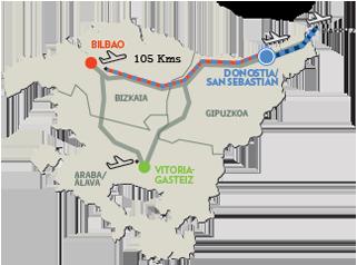 Map Of Spain Showing San Sebastian.How To Get Here San Sebastian Tourism